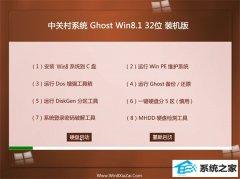 中关村Windows8.1 32位 游戏装机版 2021.04